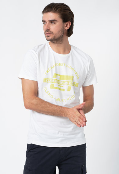 BLEND Тениска с овално деколте Мъже
