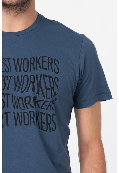 BLEND Памучна тениска с надпис Мъже