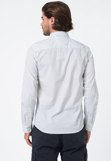 BLEND Памучна риза с копчета на яката Мъже