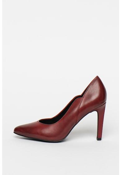 Marco Tozzi Pantofi din piele cu toc stiletto si terminatie ondulata Femei