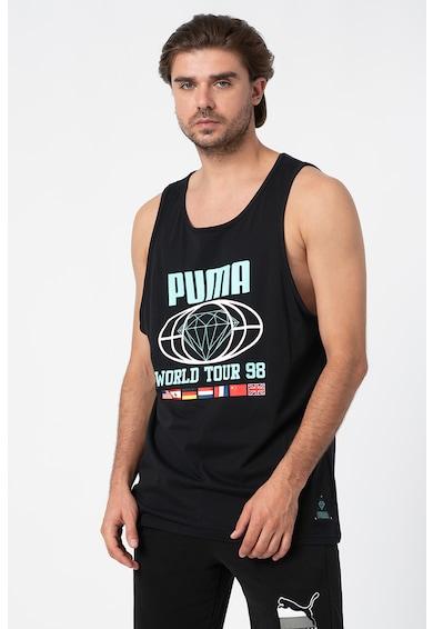 Puma Уголемен спортен топ с лого Мъже