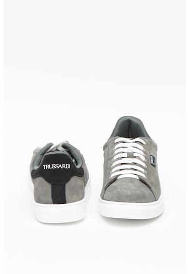 Trussardi , Pantofi sport de piele intoarsa Dna Barbati