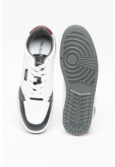 Trussardi , Pantofi sport de piele ecologica Scinus Barbati