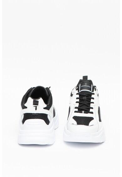 Trussardi Jeans Pantofi sport cu insertii de piele Citron Barbati