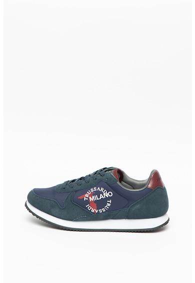 Trussardi , Pantofi sport cu insertii de piele Abax Barbati