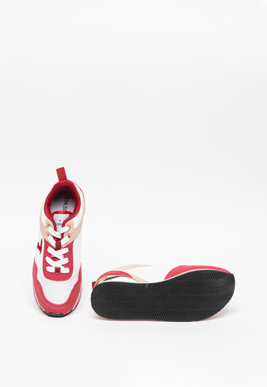Trussardi Jeans Pantofi sport de piele intoarsa, cu garnituri de plasa Celtik Femei