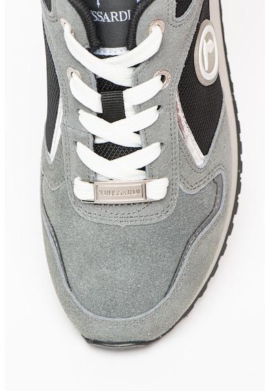 Trussardi Pantofi sport cu insertii de piele intoarsa Cordura Femei