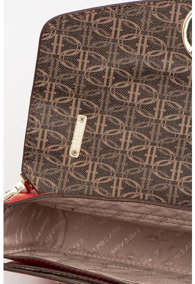 U.S. Polo Assn. Geanta crossbody de piele ecologica cu clapa cu logo Femei