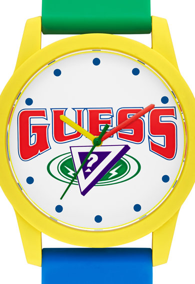Guess Originals Ceas cu cadran cu logo si model colorblock Barbati