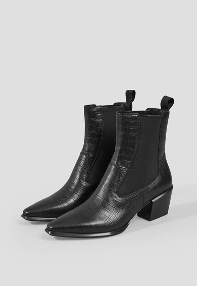 Vagabond Shoemakers Ghete Chelsea de piele cu aspect de piele de crocodil Betsi Femei