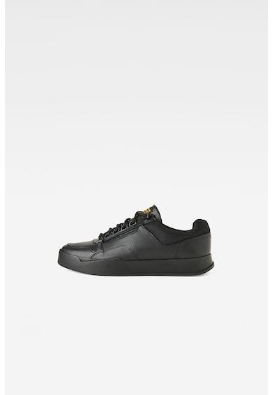 G-Star RAW Pantofi sport din piele ecologica cu insertii din plasa Barbati