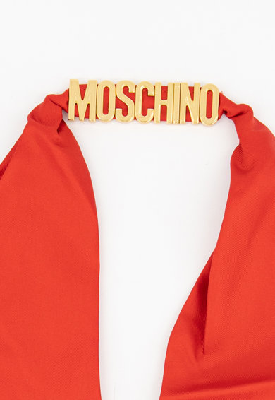 Moschino Esarfa din matase cu logo Femei