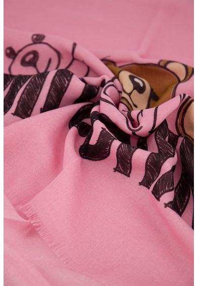 Moschino Esarfa din lana cu imprimeu logo Femei