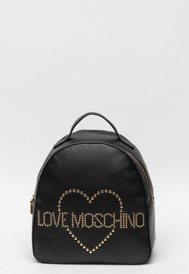 Love Moschino Rucsac de piele cu aplicatie logo cu nituri Femei
