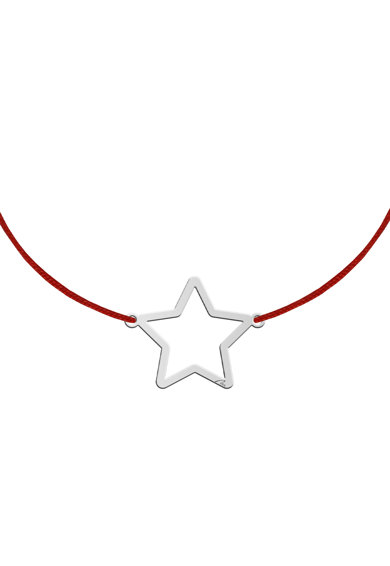 MALVENSKY Копринена гривна с позлатена висулка с форма на звезда Жени
