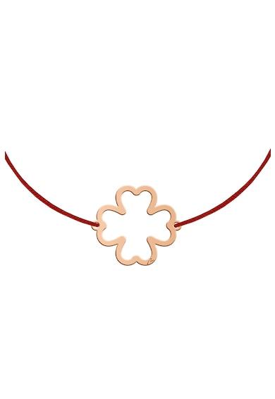 MALVENSKY Копринена гривна с висулка с форма на детелина Жени