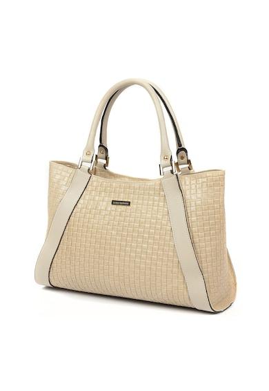 Luisa Vannini Кожена ръчна чанта с релеф Жени