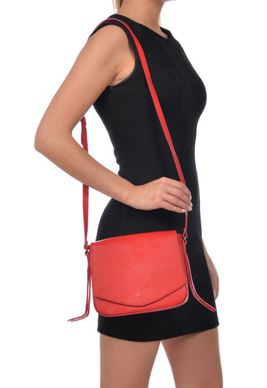 Carla Ferreri Кожена чанта през рамо Жени