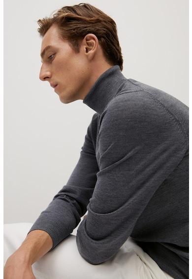 Mango Пуловер Willyt от мериносова вълна с поло Мъже