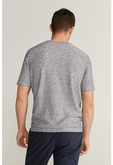 Mango Тениска Glacier с лен Мъже