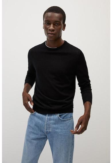 Mango Фино плетен пуловер Willy от мериносова вълна Мъже