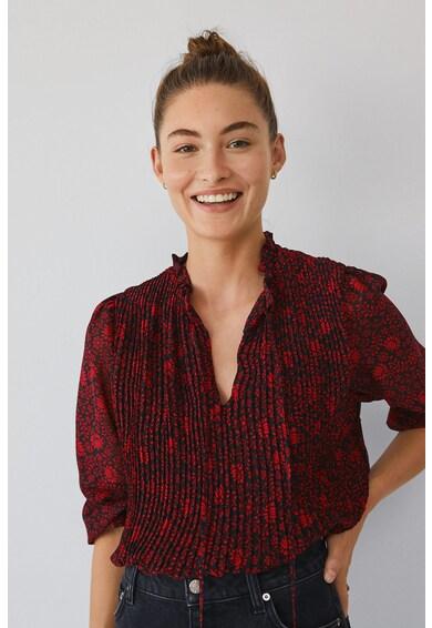 Mango Блуза Pliti с набирания Жени