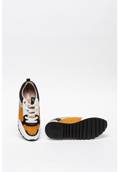 s.Oliver Pantofi sport din piele ecologica cu garnituri din piele intoarsa sintetica Femei