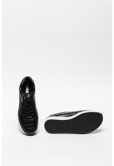 s.Oliver Pantofi sport flatform din piele ecologica cu insertii din plasa Femei