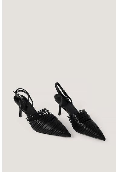 NA-KD Pantofi slingback de piele ecologica cu varf ascutit Femei