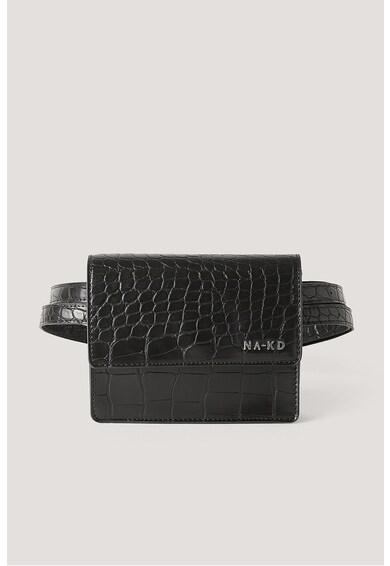 NA-KD Borseta de piele ecologica cu aspect de piele de crocodil Femei