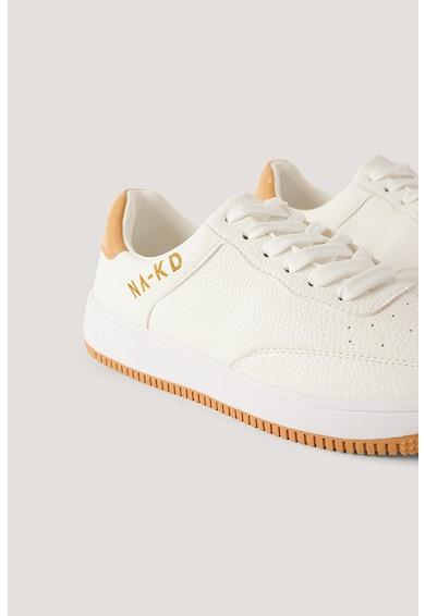 NA-KD Pantofi sport de piele ecologica cu detalii logo Femei