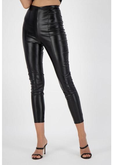 Missguided Pantaloni din piele ecologica cu talie inalta Femei