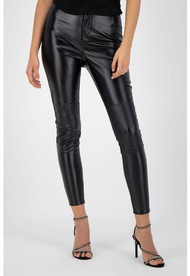 Missguided Pantaloni slim fit din piele ecologica Femei