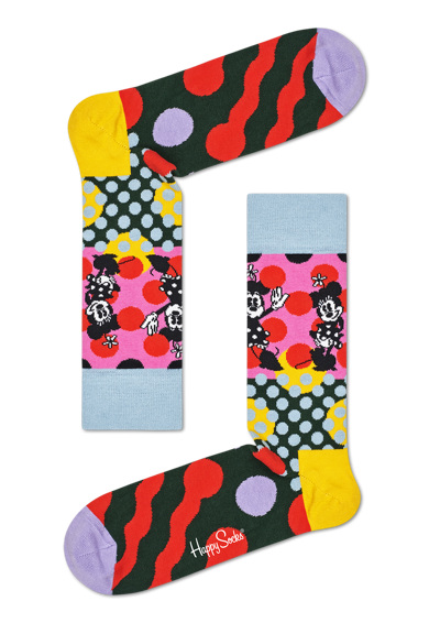 Happy Socks Унисекс чорапи с шарки - 4 чифта Жени