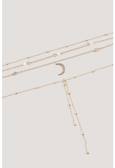NA-KD Set de coliere cu siraguri multiple - 2 piese Femei
