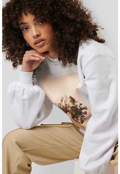 NA-KD Bluza sport cu imprimeu floral si foto Femei