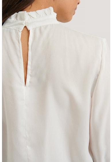 NA-KD Bluza satinata cu guler cu volane Femei