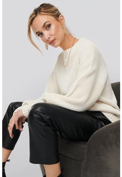 NA-KD Pulover din amestec de lana, cu maneci bufante Femei