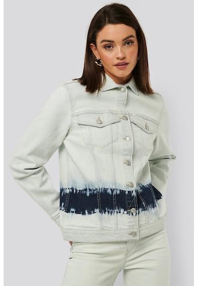NA-KD Jacheta din denim, cu aspect decolorat Femei