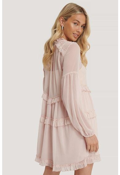 NA-KD Къса рокля с дизайн на волани и набирания Жени