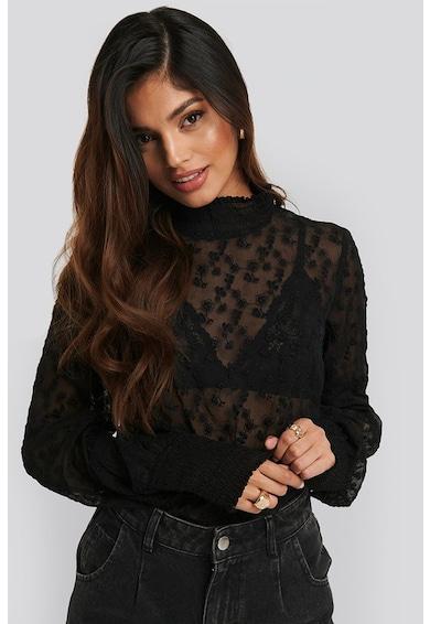 NA-KD Bluza semitransparenta cu broderie florala Femei