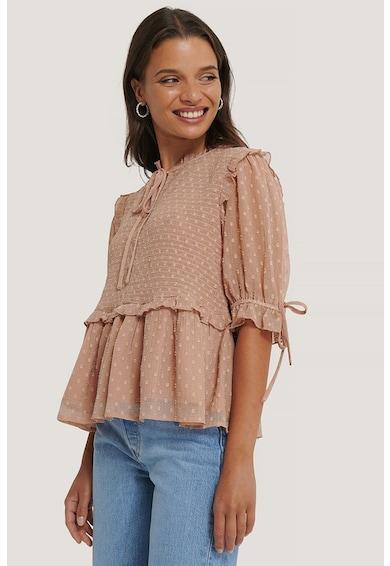 NA-KD Bluza cu buline si maneci semitransparente Swiss Femei