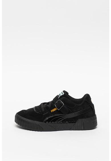 Puma Pantofi sport de piele intoarsa, cu insertii lacuite Cali Tyakasha Femei
