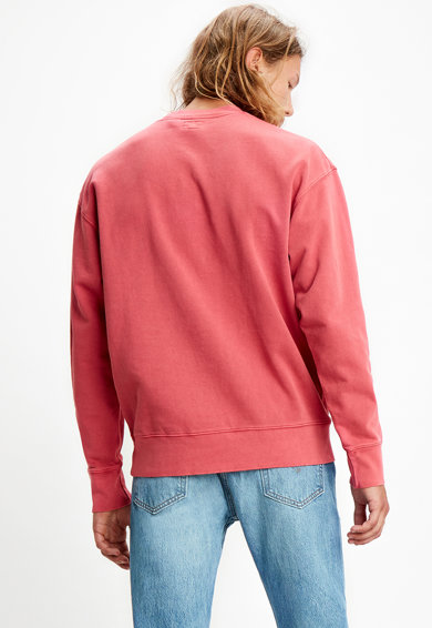 Levi's Bluza sport de bumbac cu decolteu la baza gatului Barbati