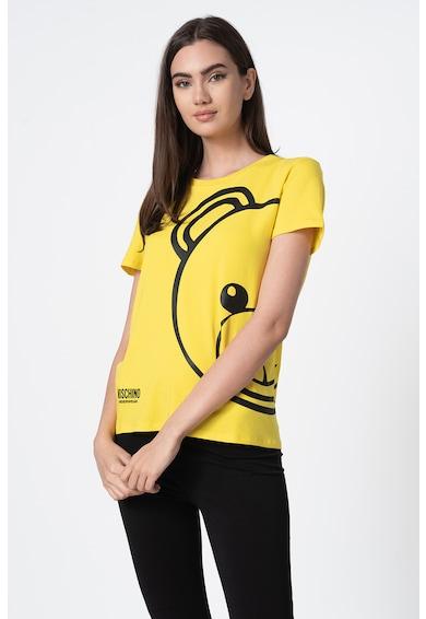 Moschino Tricou de casa cu decolteu la baza gatului si imprimeu logo Femei