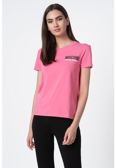 Moschino Tricou de casa cu decolteu la baza gatului Femei