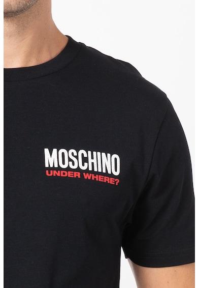 Moschino Tricou de casa cu decolteu la baza gatului Barbati