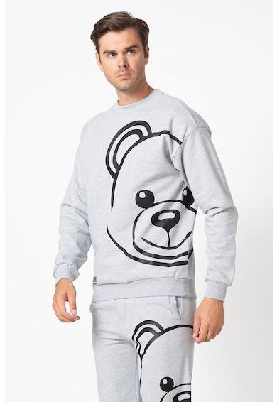 Moschino Bluza sport de casa cu imprimeu cu ursulet Barbati