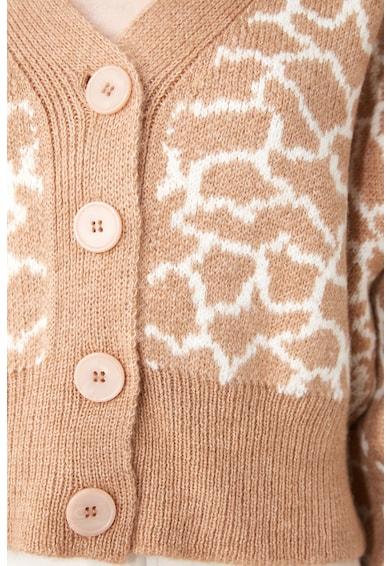 Trendyol Жилетка с копчета и абстрактна шарка Жени