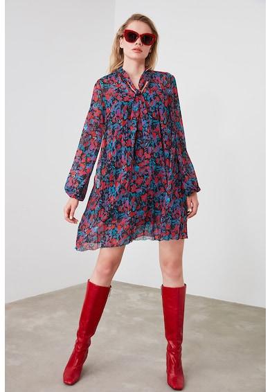 Trendyol Къса плисирана рокля с ефирни ръкави Жени